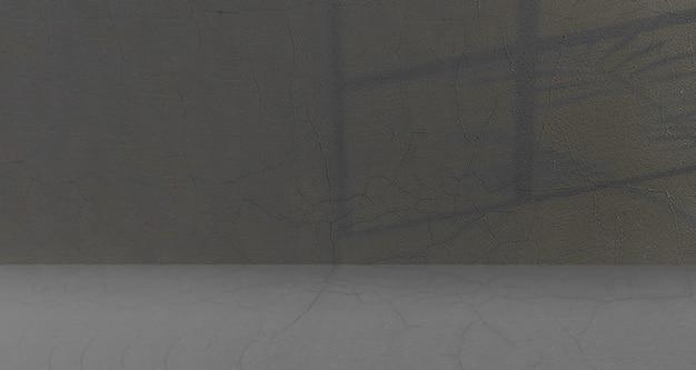 Salle vide avec vieux fond et ombres