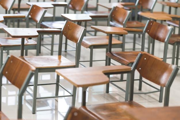 Salles de classe universitaires vides pendant la peste