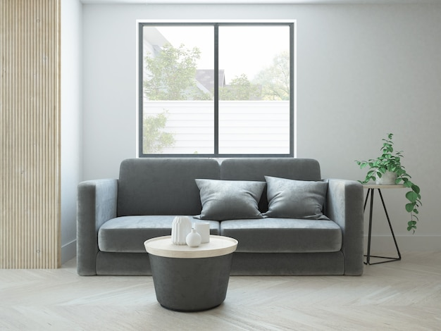 Salon d'appartement minimaliste moderne
