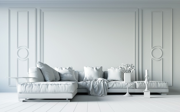 Salon blanc.