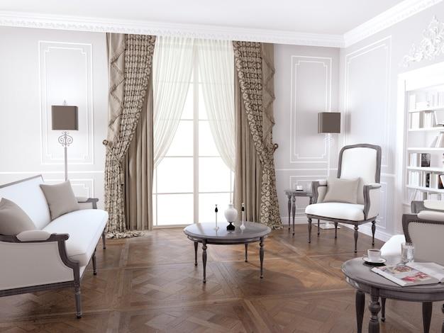 Salon avec décoration