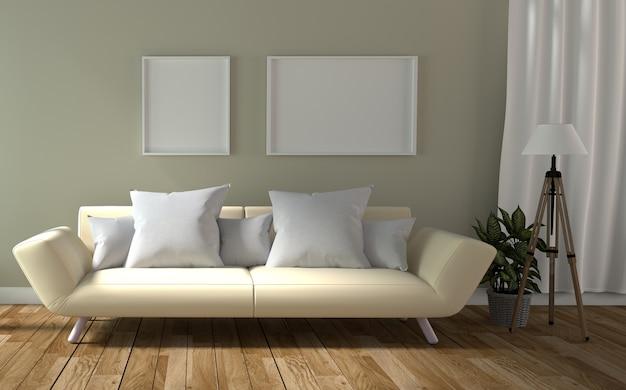 Salon intérieur avec canapé