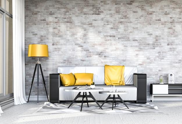 Salon intérieur dans un style moderne