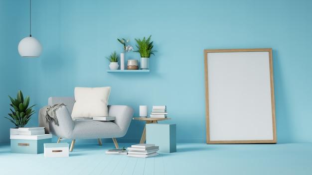 Salon intérieur avec fauteuil blanc coloré