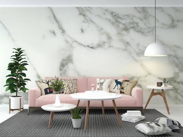 Salon intérieur maison étage modèle arrière plan maquette conception espace copie marbre