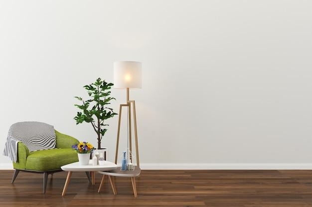 Salon intérieur maison étage modèle fond