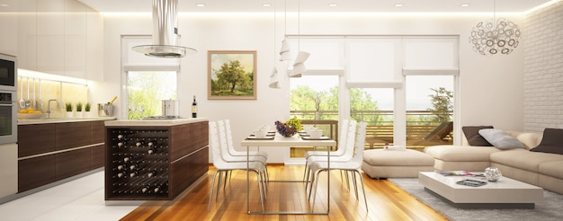 Salon intérieur moderne