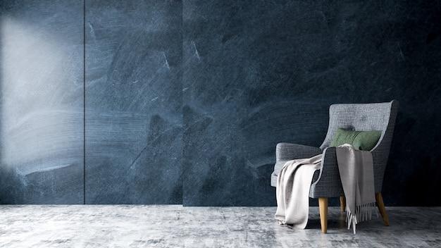Salon moderne intérieur avec fauteuil