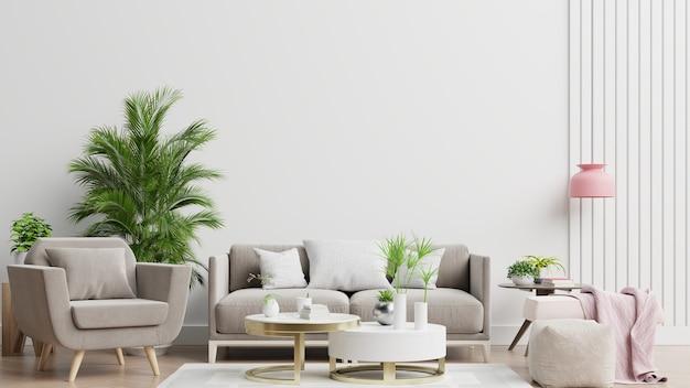 Salon moderne lumineux et confortable
