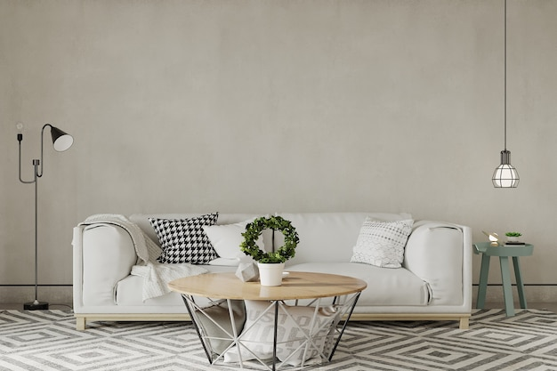 Salon moderne avec des meubles