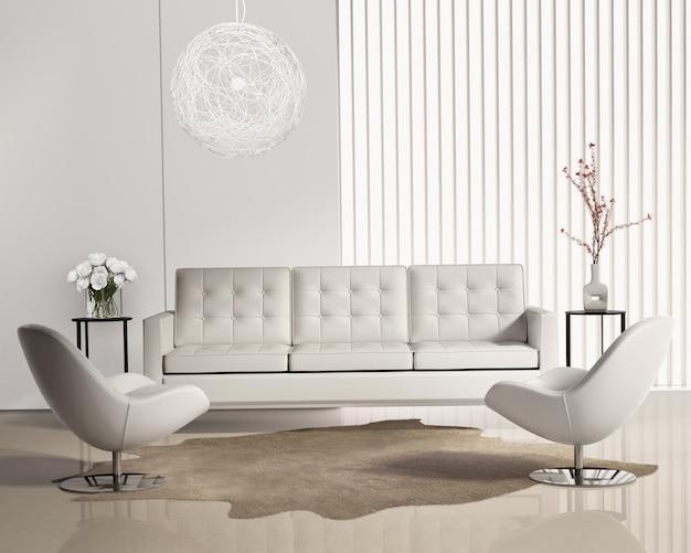 Salon moderne avec système mural contemporain