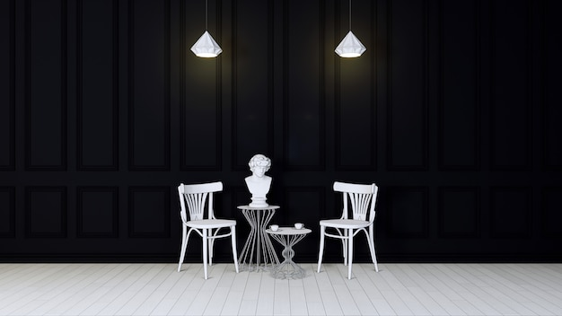Salon sombre