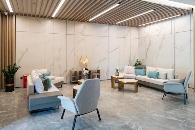 Salon De Style Décoration Moderne, Canapé En Cuir Photo Premium