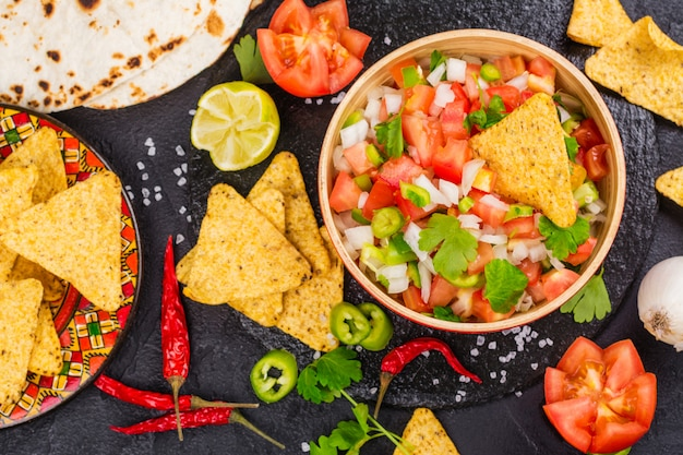 Salsa mexicaine au pico de gallo