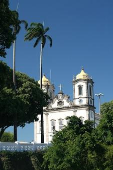 Salvador, brésil - janvier 2017: église igreja nosso senhor do bonfim, salvador (salvador de bahia), bahia, brésil, amérique du sud.