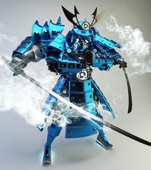 Samurai robot guerrier