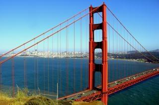 San francisco - golden gate bridge, la suspension