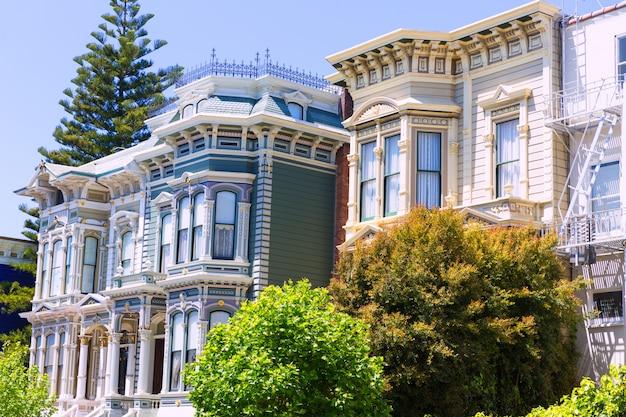 San francisco, maisons victoriennes, pacific heights, californie