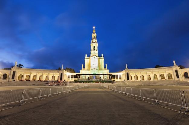 Le sanctuaire de fatima la nuit, fatima, portugal
