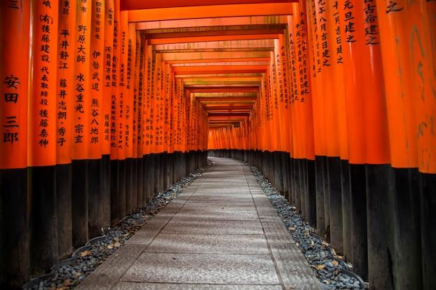 Sanctuaire fushimi inari à kyoto, japon