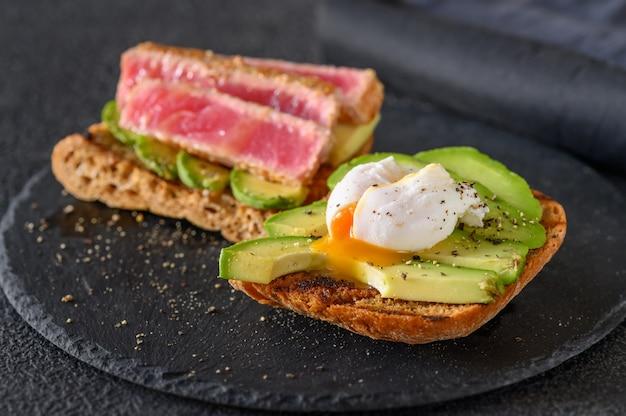 Sandwich au thon et oeuf
