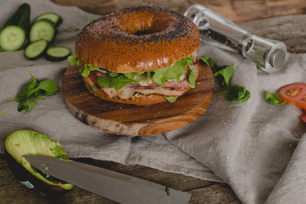 Sandwich aux beignets
