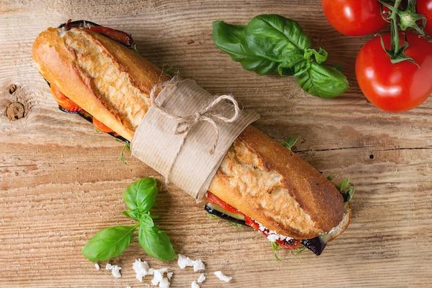 Sandwich à la baguette végétarienne
