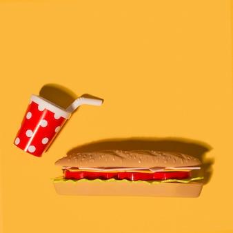 Sandwich avec boisson