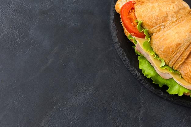 Sandwich fait maison avec espace copie