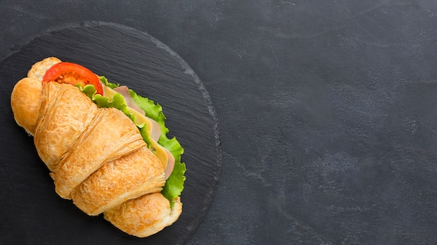 Sandwich frais avec espace copie
