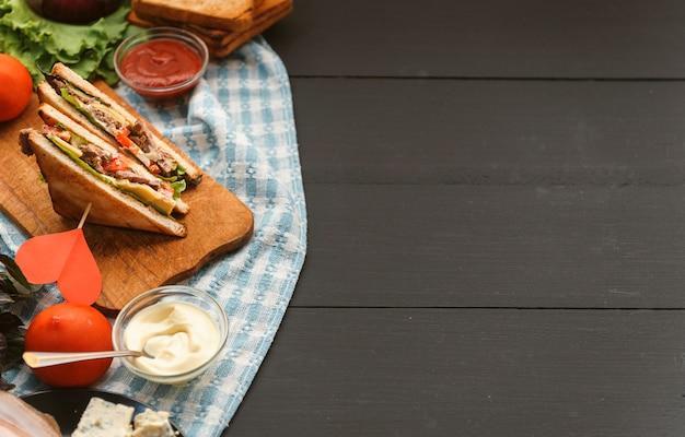 Sandwich maison délicieux et sain