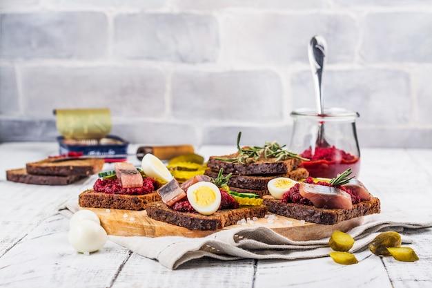 Sandwich néerlandais smorrebrod