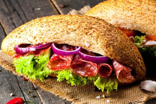 Sandwich pour le dîner