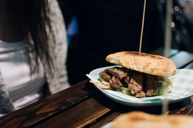 Sandwich steak argentin