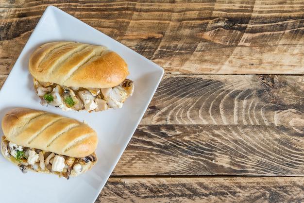 Sandwich typique en espagnol de seiche
