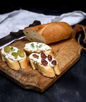 Sandwiches au fromage à la crème