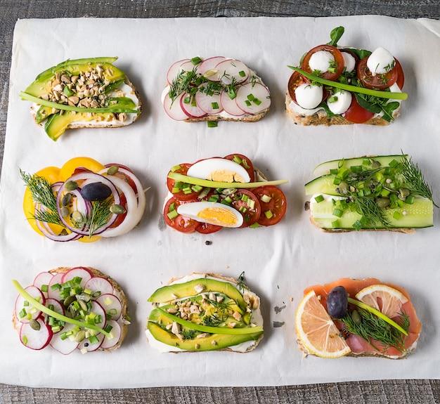 Sandwiches avec du pain