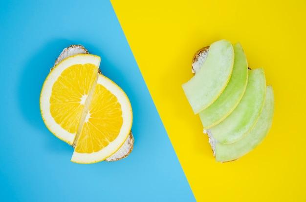 Sandwiches exotiques à l'orange et à la mangue