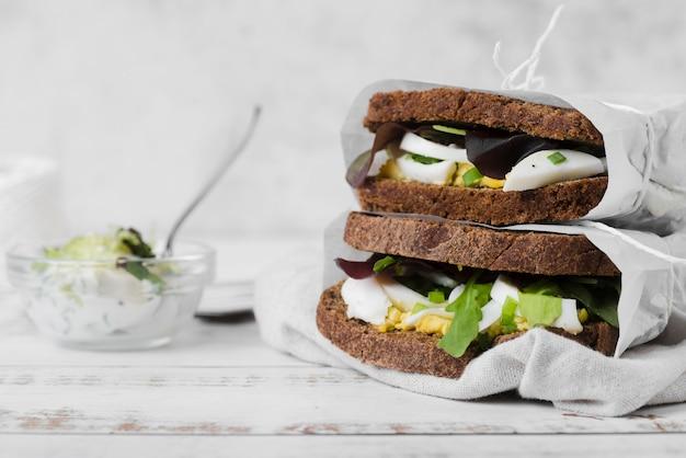 Sandwichs emballés pour le petit déjeuner