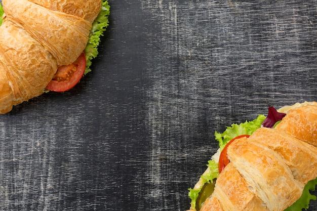 Sandwichs faits maison avec espace copie