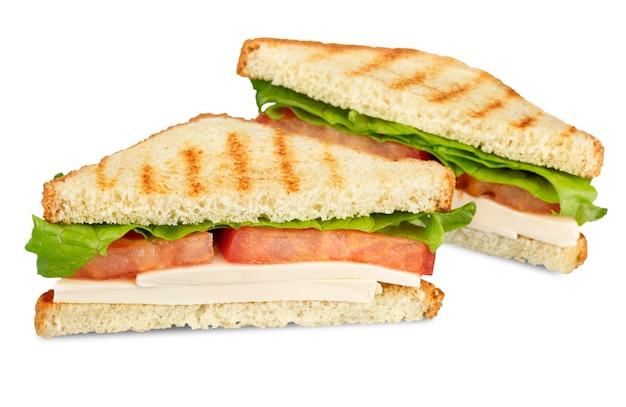 Sandwichs frais et savoureux sur fond