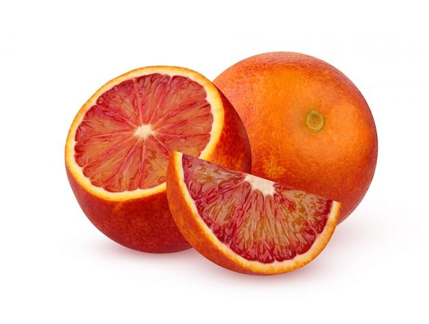 Sanglante orange rouge isolé sur fond blanc.