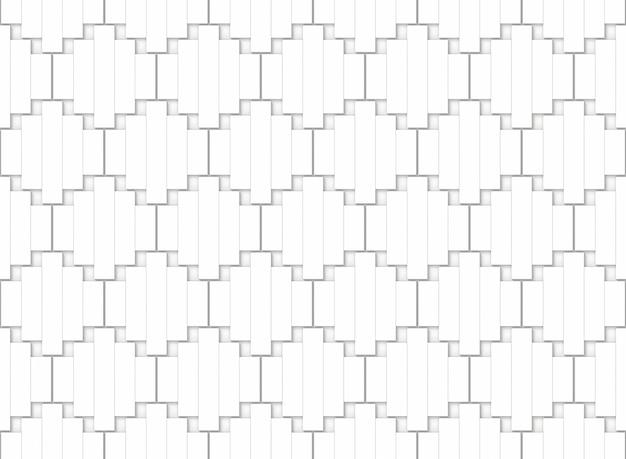Sans soudure abstrait blanc petits panneaux de bois groupe fond de mur modèle.