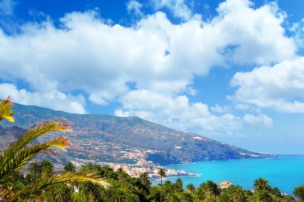 Santa cruz de la palma dans les îles canaries atlantiques