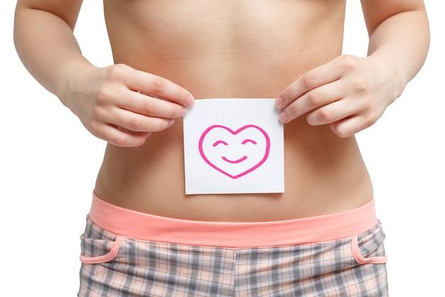Santé des femmes. gros plan d'une femme en bonne santé
