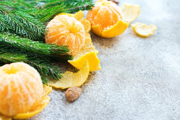 Sapin mandarines composition noël nouvel an