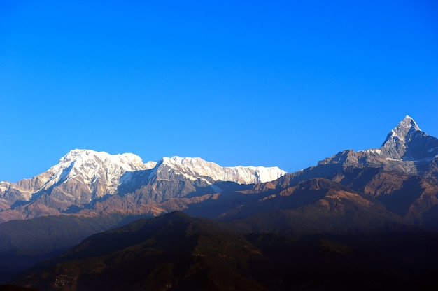 Sarangkot et l'himalaya à pokhara, au népal