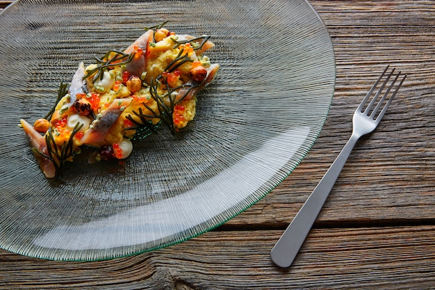 Sardines salade fromage crémeux au maïs codium