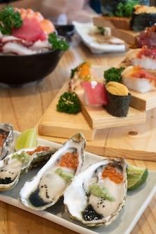 Sashimi d'huîtres fraîches à la japonaise