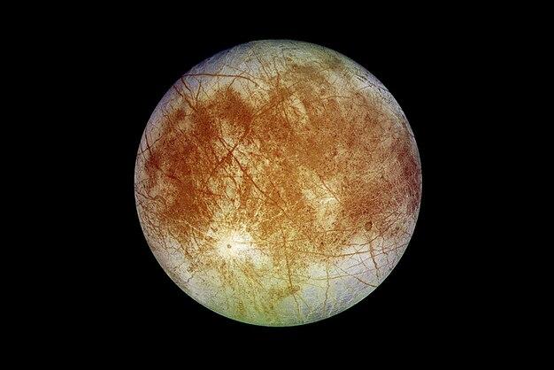Satellite europe en couleur naturelle sur fond sombre éléments de cette image fournis par la nasa